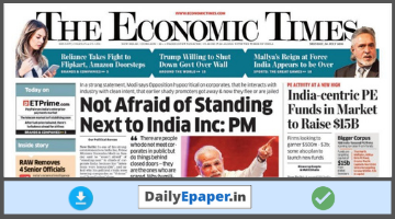 Economic Times Newspaper Today Download After 07:00 AM